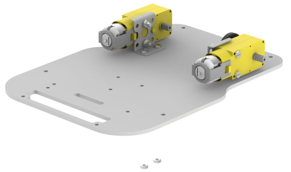 Motor mountned on Base Plate