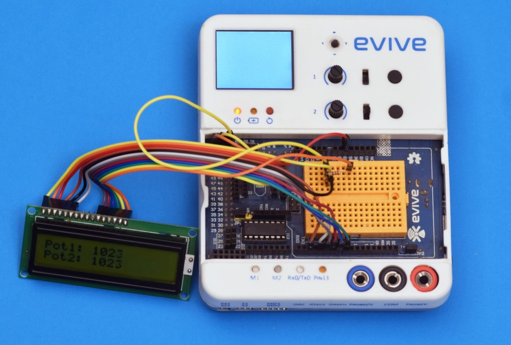 LCD setup with evive