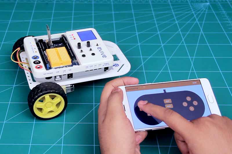 Smartphone Controlled Robot - classroom activities