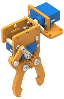 Pick and place robot gripper