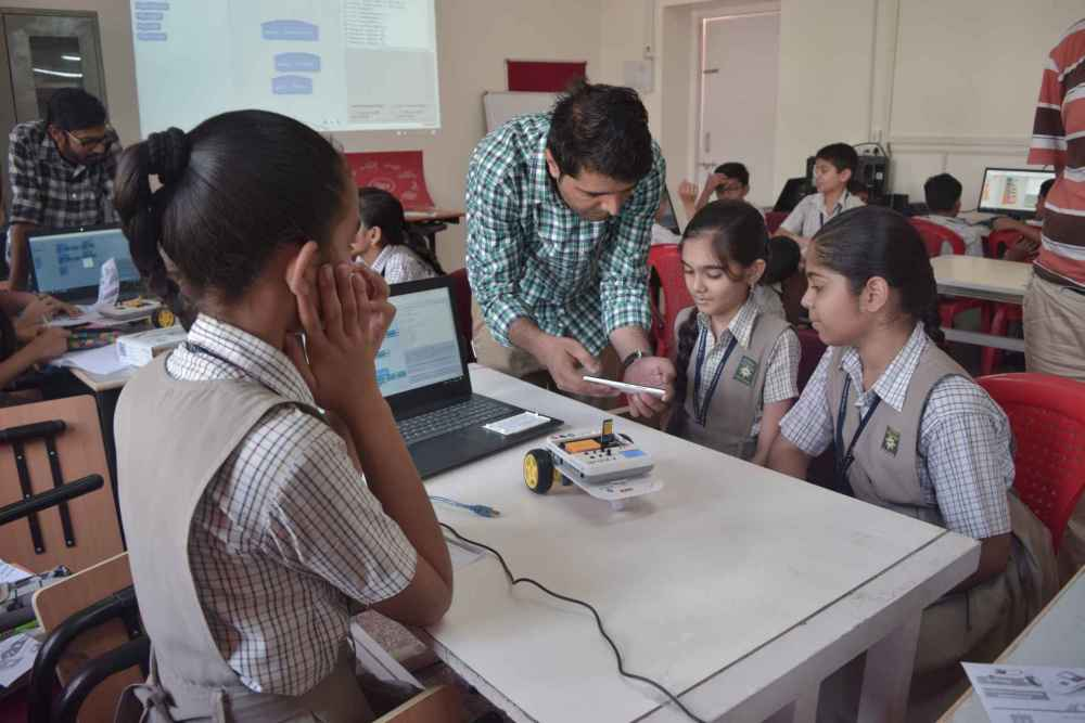 ATL Workshop by STEMpedia at A.G. High School, Ahmedabad, India