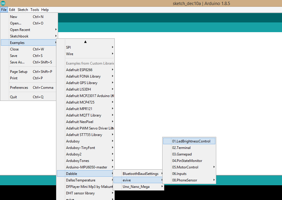 Getting Started with Dabble App - Bluetooth controller for Arduino