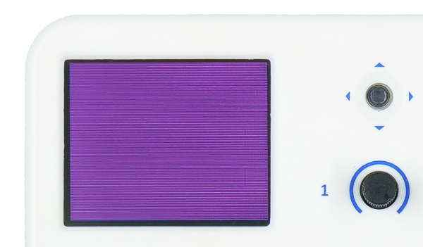 evive TFT Display Fill Screen with Purple Colour