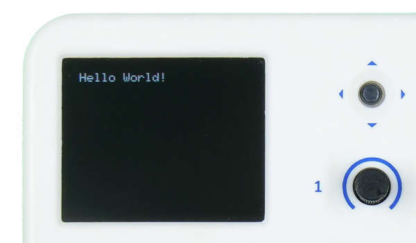 evive TFT Display Text Hello World