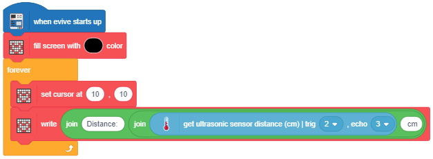 get ultrasonic sensor distance example