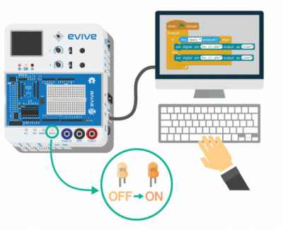Evive - STEM Learning Products Tutorials based on Arduino & Scratch