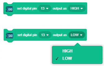 set digital pin to low