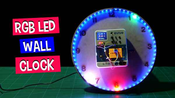 RGB-LED-Wall-Clock