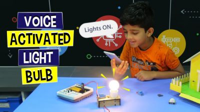 Voice Activated Light Bulb project - science project idea