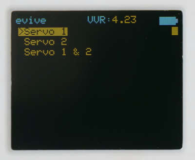 Servo Select Menu