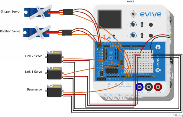 Computer Controlled Robotic Arm_Fritzing Diagram