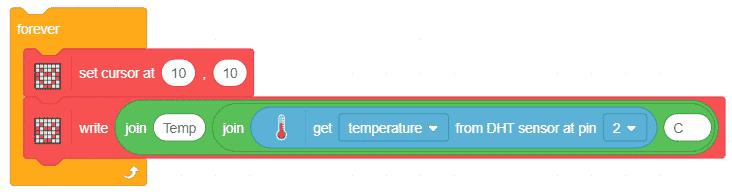 display temperature on evive1